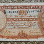 Australia 10 shillings 1939 (135x74mm) pk.25a anverso