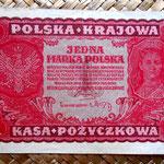Polonia 1 marka 1919 (120x75mm) pk.23 anverso