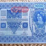 Imperio Austrohúngaro 1000 coronas 1902 anverso
