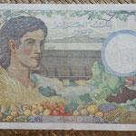 Argelia y Túnez 1000 francos 1946 (194x130mm) pk.26 reverso
