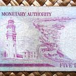 Bermuda 5 dollars 1970 reverso