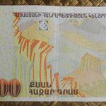Armenia 20.000 dram 2012 (158x70mm) pk.58 reverso