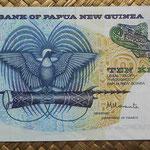 Papua Nueva Guinea 10 kinas 1985 (150x75mm) pk.7 anverso