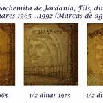Jordania fils, dirhams y dinares 1965 ...1992 marcas de agua