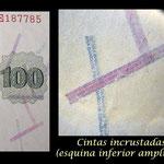 España 100 pesetas 1936 zoom cintas incrustadas