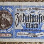 Danzig 10.000 mark 1923 (144x86mm) pk.17 anverso