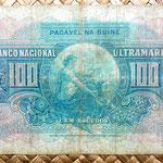 Guinea portuguesa 100 escudos 1964 reverso