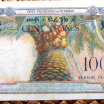 Yibuti ocup. francesa 100 francos 1952 -Tresor Public- reverso