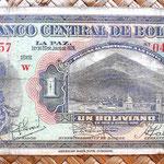 Bolivia 1 boliviano  1928 (138x70mm)  anverso