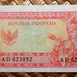Indonesia 1 rupia 1964 pk. 80b reverso