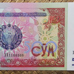 Uzbekistan 500 sum 1999 (144x77mm) pk.81 anverso