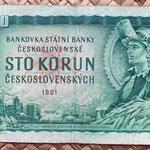 Checoslovaquia 100 korun 1961 anverso