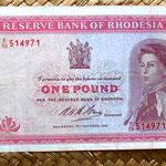 Rhodesia 1 pound 1968 anverso