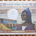 Mali 1000 francos 1970 anverso