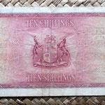 Sudáfrica 10 shillings 1945 reverso