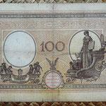 Italia 100 liras 1926 pk.39f reverso