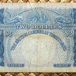 British Caribbean Territories 2 dolar 1958 reverso