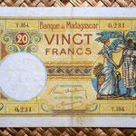 Madagascar colonial 20 francos 1937 anverso