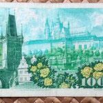Checoslovaquia 100 korun 1989 reverso