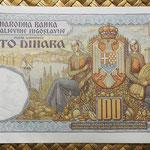 Yugoslavia 100 dinares 1934 pk.31 reverso