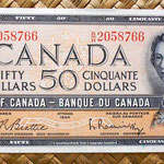 Canadá 50 dólares 1961 anverso