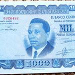 Guinea Ecuatorial 1000 pesetas 1969 anverso