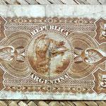 Argentina 5 centavos de peso 1884 reverso