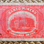 México, 2 pesos 1914 Banco Minero - Chihuahua reverso