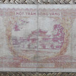 Indochina 100 piastras 1942-45 (174x76mm) pk.66 reverso