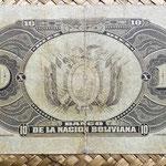 Bolivia 10 bolivianos 1911 reverso