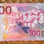 Surinam 100 gulden 2000 reverso