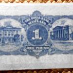 Escocia 1 libra 1946 Edimburgo reverso