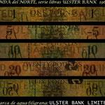 Irlanda del Norte serie libras 1966-2013 Ulster Bank Limited filigranas