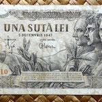 Rumania 100 leis 1947 anverso