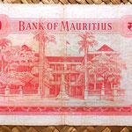 Isla Mauricio 10 rupias 1967 reverso