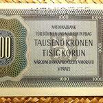 Bohemia y Moravia 1000 coronas 1942 Specimen reverso