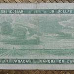 Canada 1 dollar 1954 pk.74b reverso