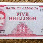 Jamaica 10 shilling 1967 anverso