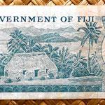 Fiji 50 centavos de dólar 1969 reverso