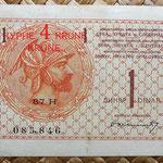 Reino de Serbia, Croacia y Eslovenia 1 dinar 4 coronas 1919 anverso
