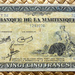 Isla Martinica 25 francos 1943 anverso