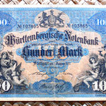 Alemania 100 marcos 1911 Wurttemberg Bank anverso
