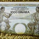 Yugoslavia 1000 dinares 1935 pk.33 reverso I