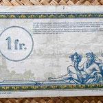 Francia 1 franco 1923 -Régie des Chemins de Fer des Territoires Occupés- reverso