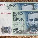 España 1.000 pesetas 1979 (138x75mm) pk.158 pareja serie E-F anversos