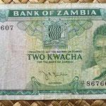 Zambia 2 kwacha 1968 anverso