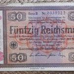 Alemania bono 50 Reichsmark -jewish notes- 1933-resello 1934 (190x110mm) pk.211 anverso