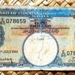 Malaya británica 1 dólar 1941 anverso