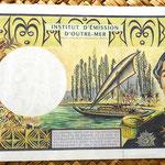 Polinesia francesa 5000 francos 1996  reverso