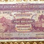 Trinidad y Tobago 5 dollar 1939 anverso